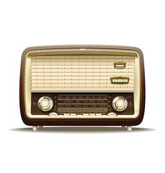 Old radio vector