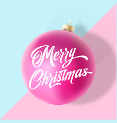 Pastel colors gentle christmas greeting card vector