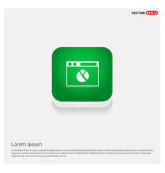 pie chart icon green web button vector image