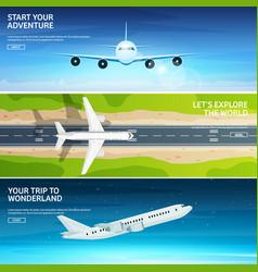 plane travel and tourism airplane aviation vector image