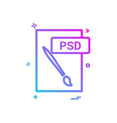 Psd file format icon design vector