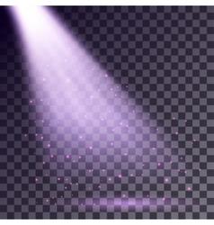 Purple rays from spotlight vector