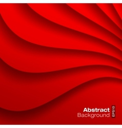 Red Wavy background vector image