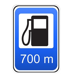 Road sign refueling vector