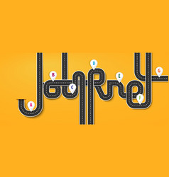 Road trip and journey route business and journey vector