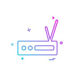 router icon design vector image