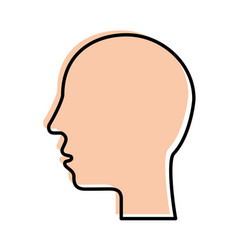 silhouette human head profile man image vector image vector image