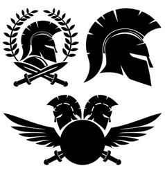 Spartan black signs vector image