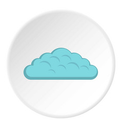 Spring cloud icon circle vector