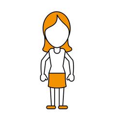 Standing woman vector