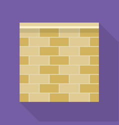 stone fence icon flat style vector image
