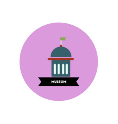 Stylish icon in color circle building museum vector