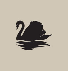 Swan logo sign emblem-09 vector