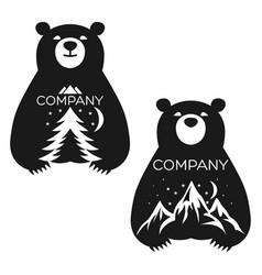 teddy bear logo vector image