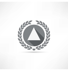 triangle icon vector image