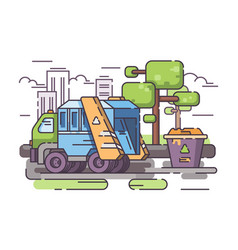Truck garbage collect trash vector