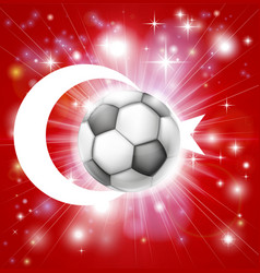 Turkey soccer flag vector