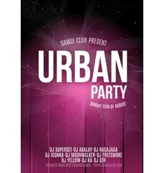 Urban Dance Party Poster Background Template vector