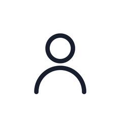 User black line icon popular media element vector