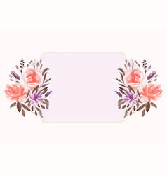 Watercolor floral flower decorative background vector