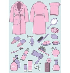 woman bath garments vector image