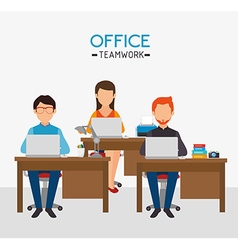 Work office design vector