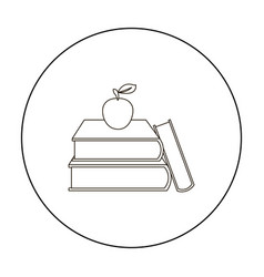 books icon outline single education icon from the vector image