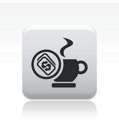 coffee price icon vector image vector image