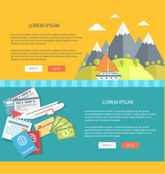 flat design vacation and tourism vector image