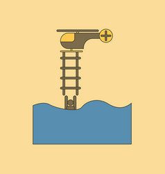 flat icon stylish background people in the water vector image