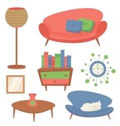 Interior design elements vector image