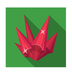 red natural mineral icon in flat style isolated on vector image