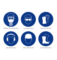 safety signs vector image vector image