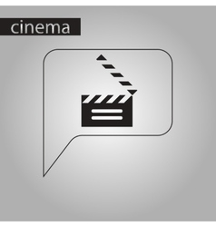 black and white style icon film slapstick vector image