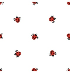 Ladybird bug flat style pattern Nature insect vector image vector image