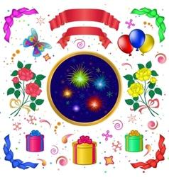 celebratory set vector image vector image