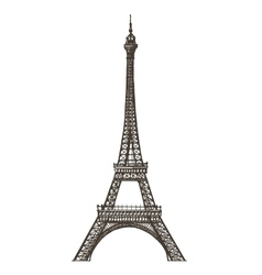 Eiffel tower logo design template Paris or vector image vector image