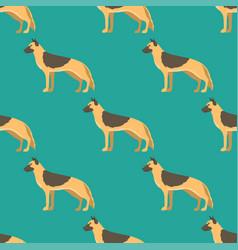 funny cartoon shepherd dog character bread vector image vector image