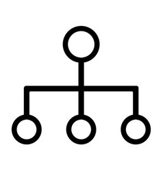 line chain of command icon vector image vector image