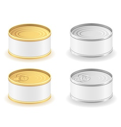 metal tin can 04 vector image vector image