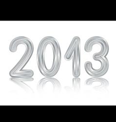 Metallic 2013 design vector image vector image