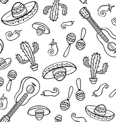 mexican seamless backround vector image vector image