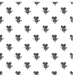 retro camera pattern vector image vector image