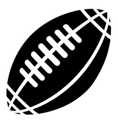 rugby icon simple black style vector image