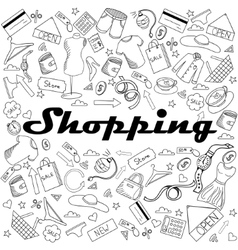 Shopping coloring book vector image vector image