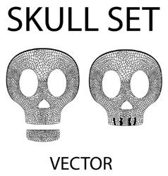 Skull set vector image