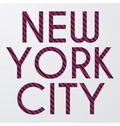 Stock typography New York City vector image