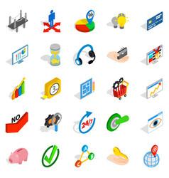 unique idea icons set isometric style vector image