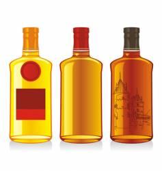 whiskey bottles vector image vector image