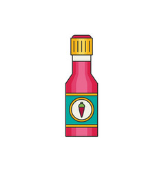 chili sauce flat vector image vector image